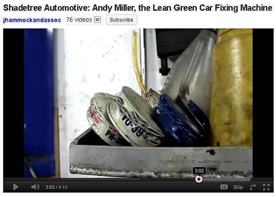Shadetree Automotive: Andy Miller, the Lean Green Car Fixing Machine